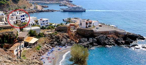 How to find us in Chora Sfakion, Sfakia, Crete