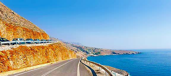 Taxi transfer and hire car Sfakia, Crete